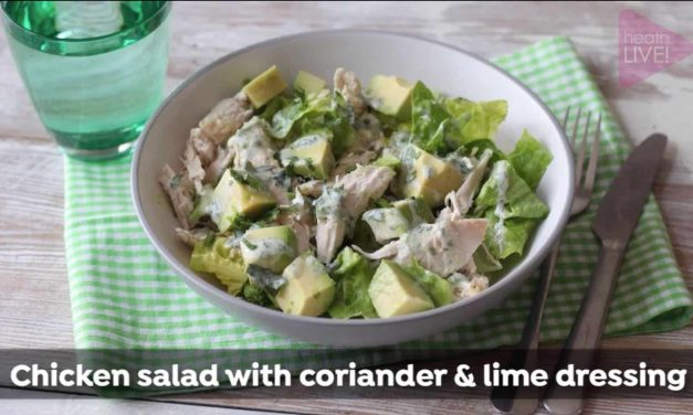 Chicken salad with coriander & lime dressing